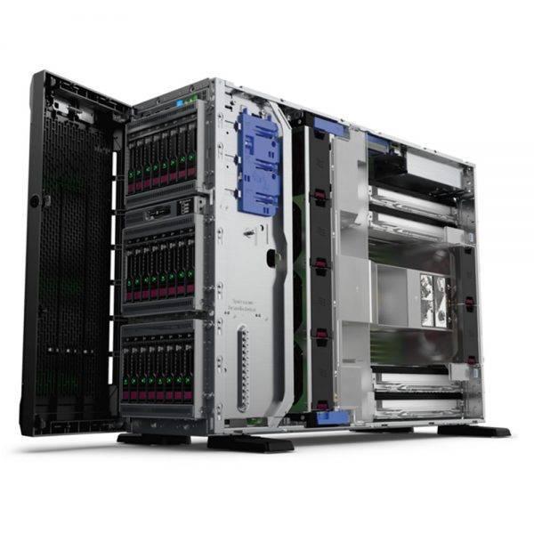 foto servidor hp ml350 gen10 perfil aberto