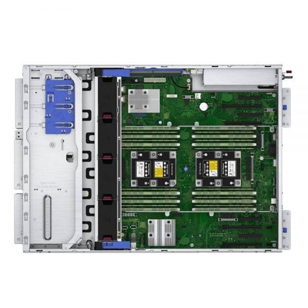 foto servidor hp ml350 gen10 por dentro